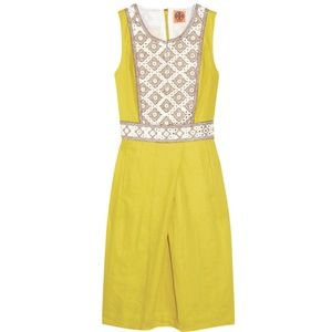 Tory Burch Embellished Linen Leonid Dress
